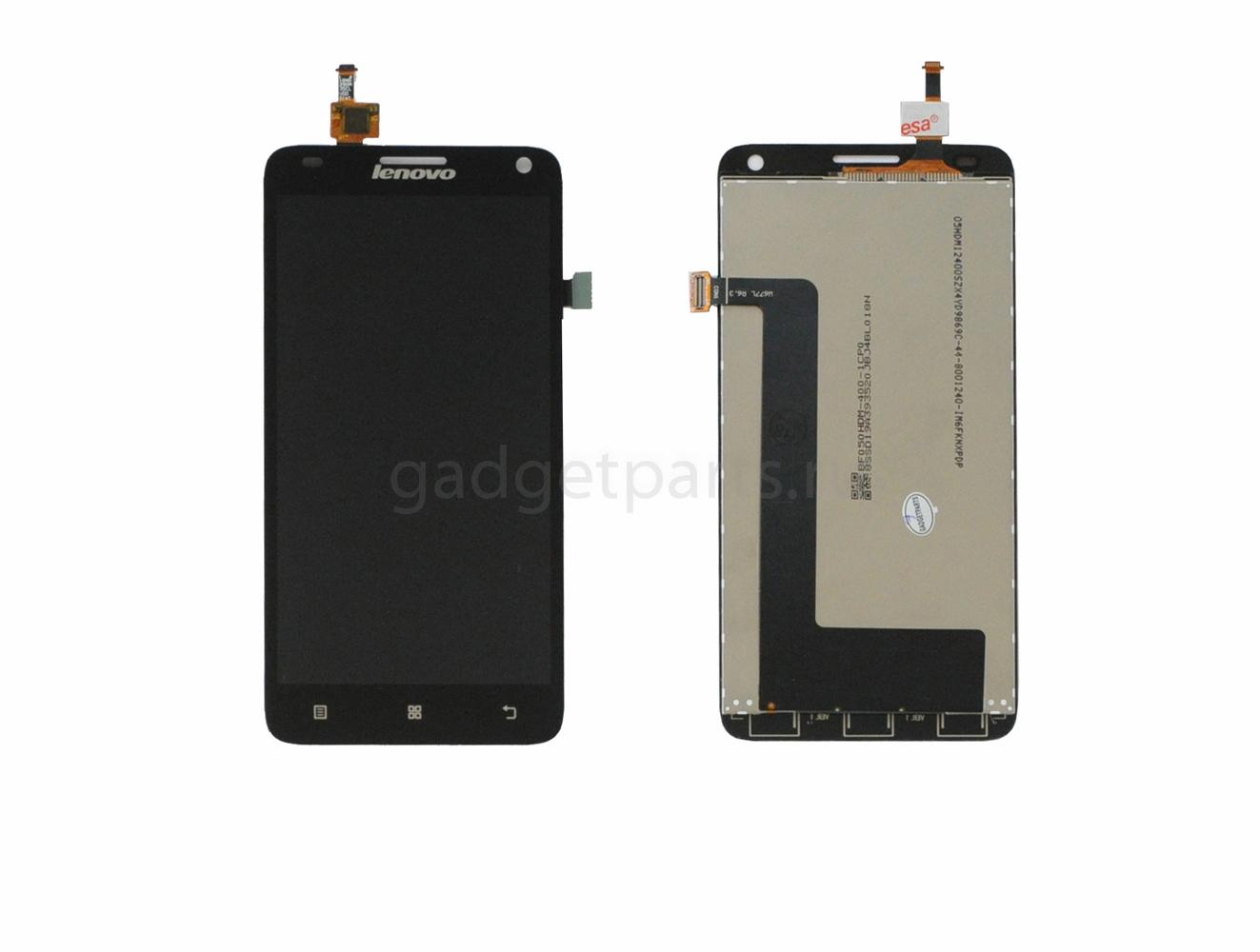 Модуль (дисплей+тачскрин) Lenovo S580 Черный (Black)