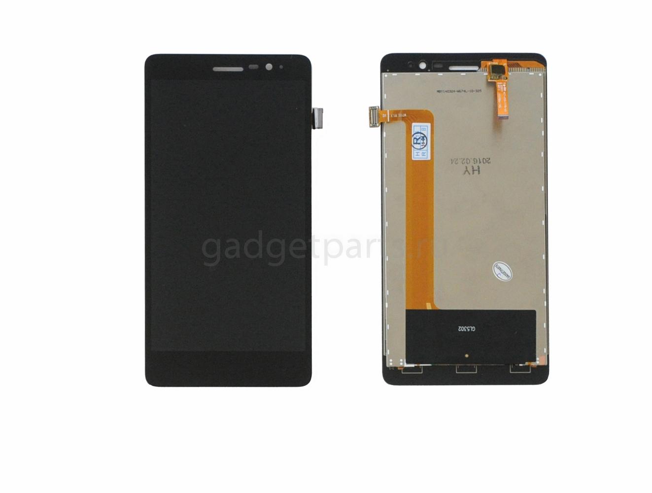 Модуль (дисплей+тачскрин) Lenovo S860 Черный (Black)