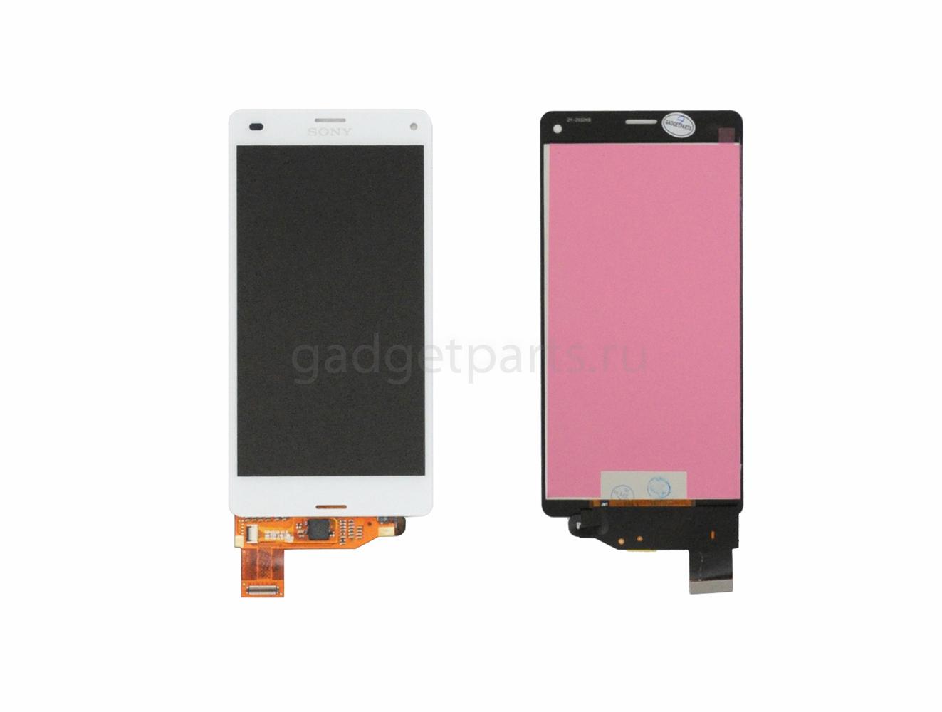 Модуль (дисплей, тачскрин) Sony Xperia Z3 Compact, D5803, D5833 Белый (White)