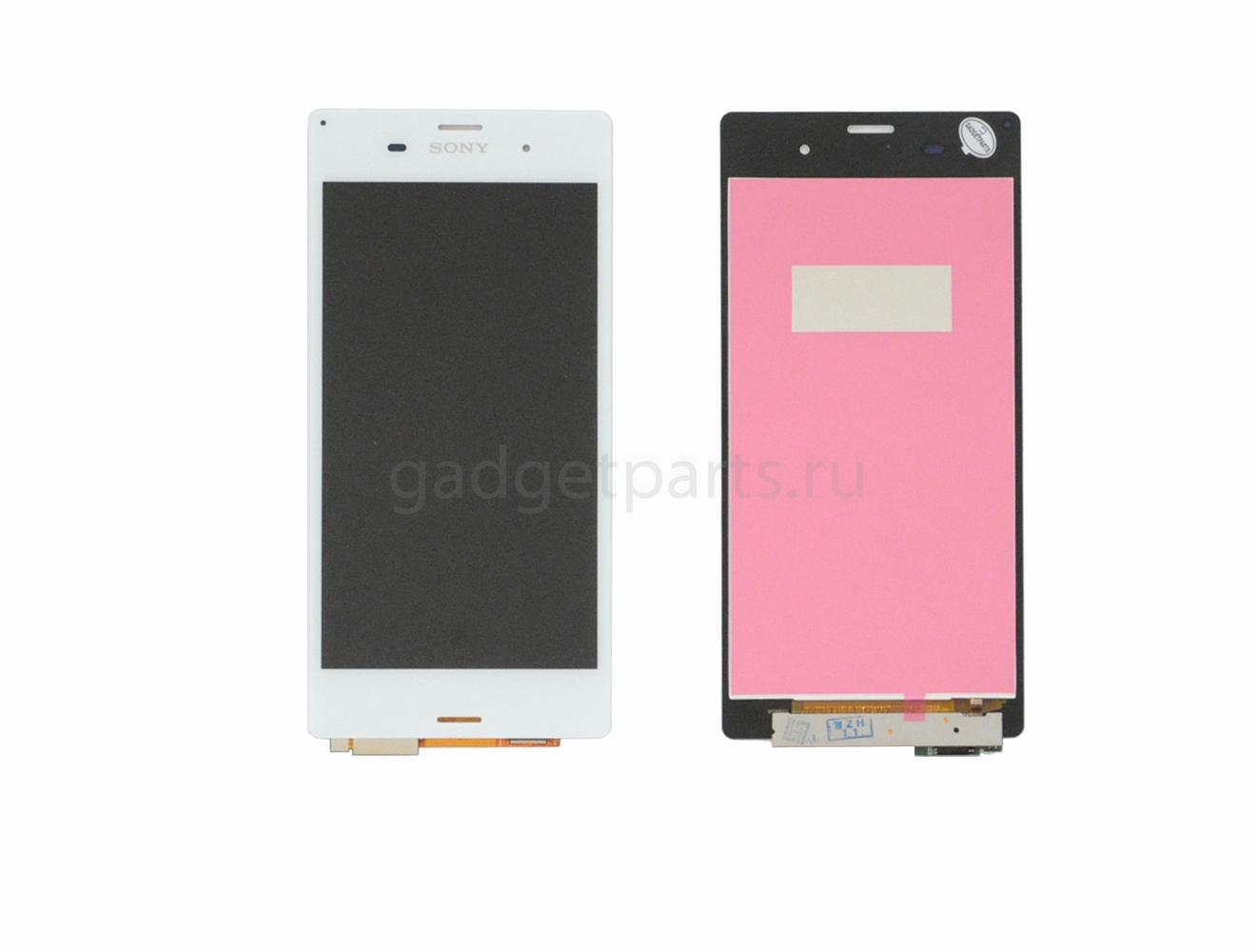 Модуль (дисплей, тачскрин) Sony Xperia Z3, Z3 Dual, D6603, D6633 Белый (White)