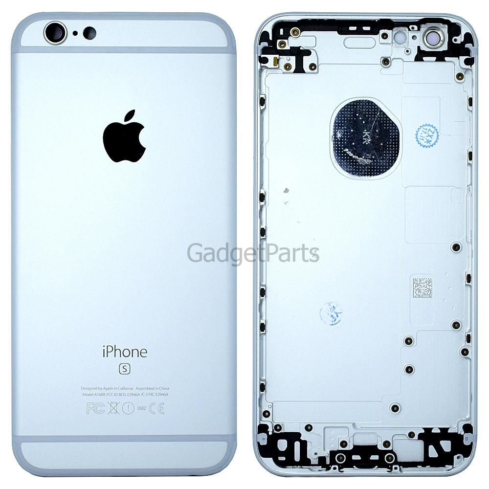 Задняя крышка iPhone 6S Серебряная, Белая (Silver, White)