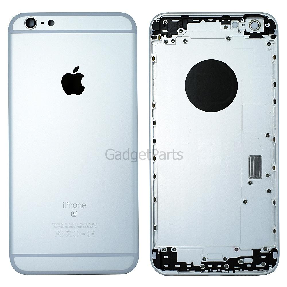 Задняя крышка iPhone 6S Plus Серебряная, Белая (Silver, White)