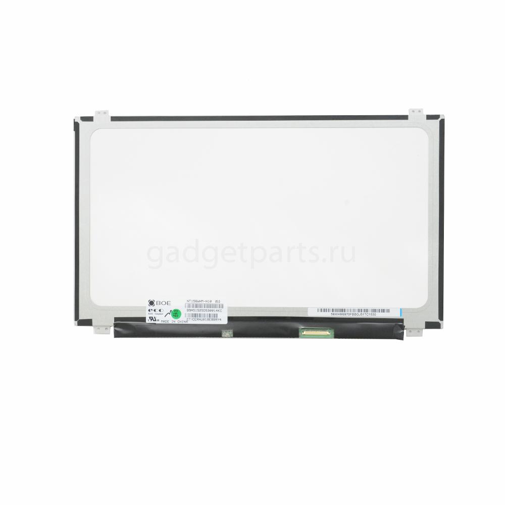 Матрица для ноутбука NT156WHM-N10 Slim 40pin, 1366х768, Глянец, LED, крепления сверху/снизу