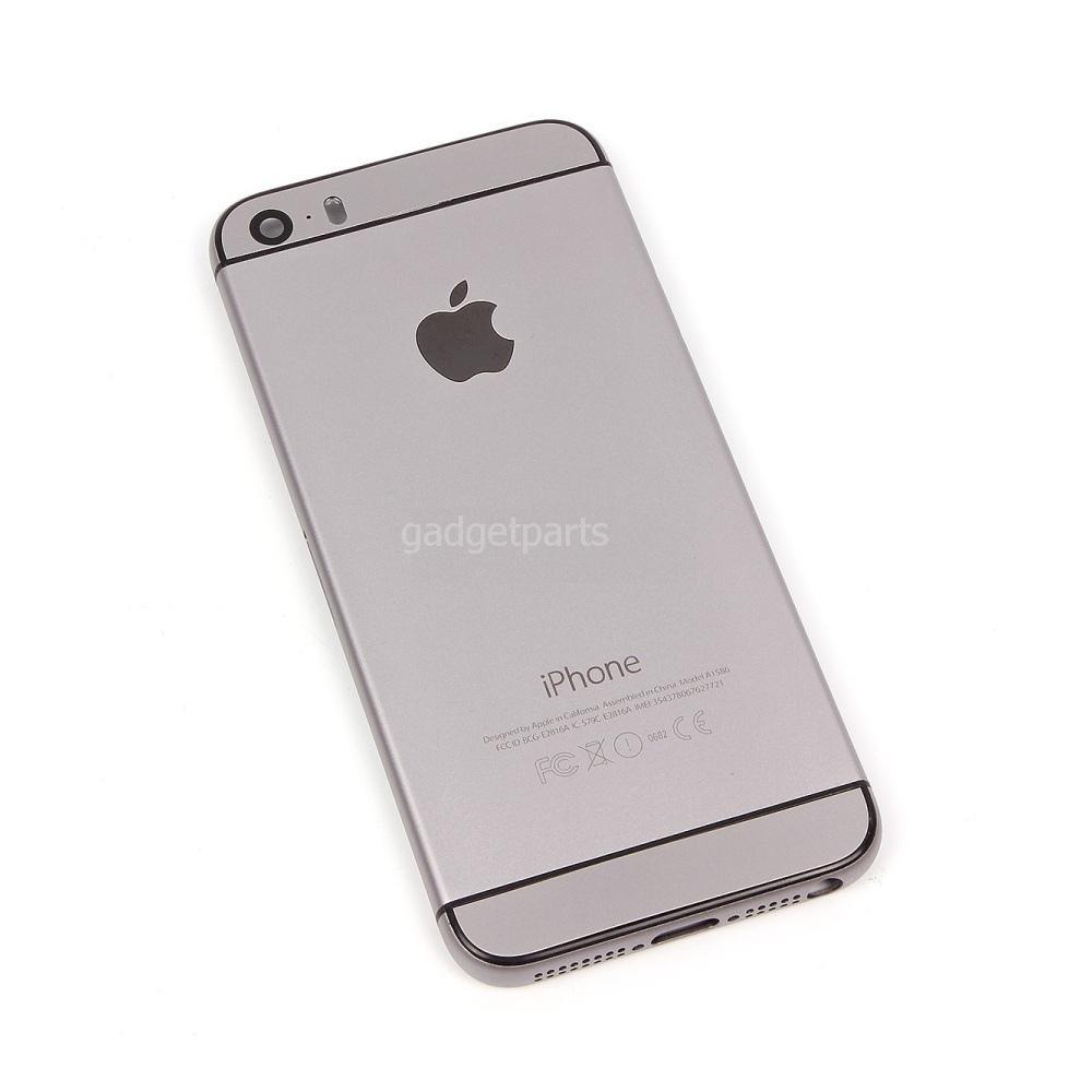 Задняя крышка iPhone 5S под iPhone 6 Черная (Black)