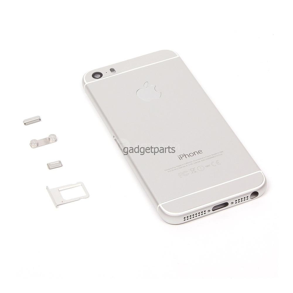 Задняя крышка iPhone 5S под iPhone 6 Белая (Silver)