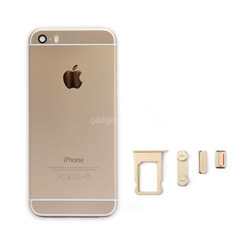 Задняя крышка iPhone 5S под iPhone 6 Золотая (Gold)