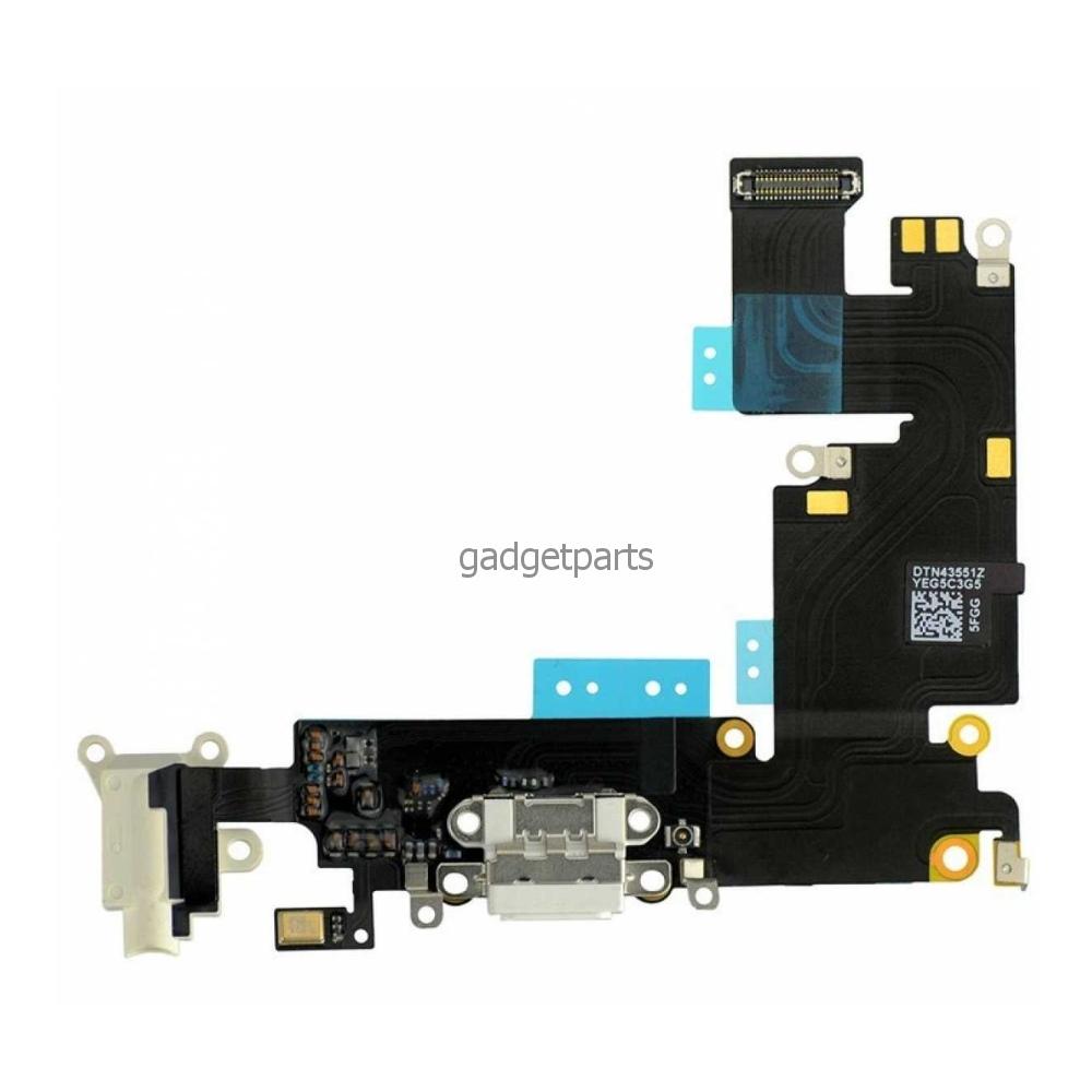 Аудио шлейф с системным разъемом iPhone 6 Plus Белый (White) Оригинал