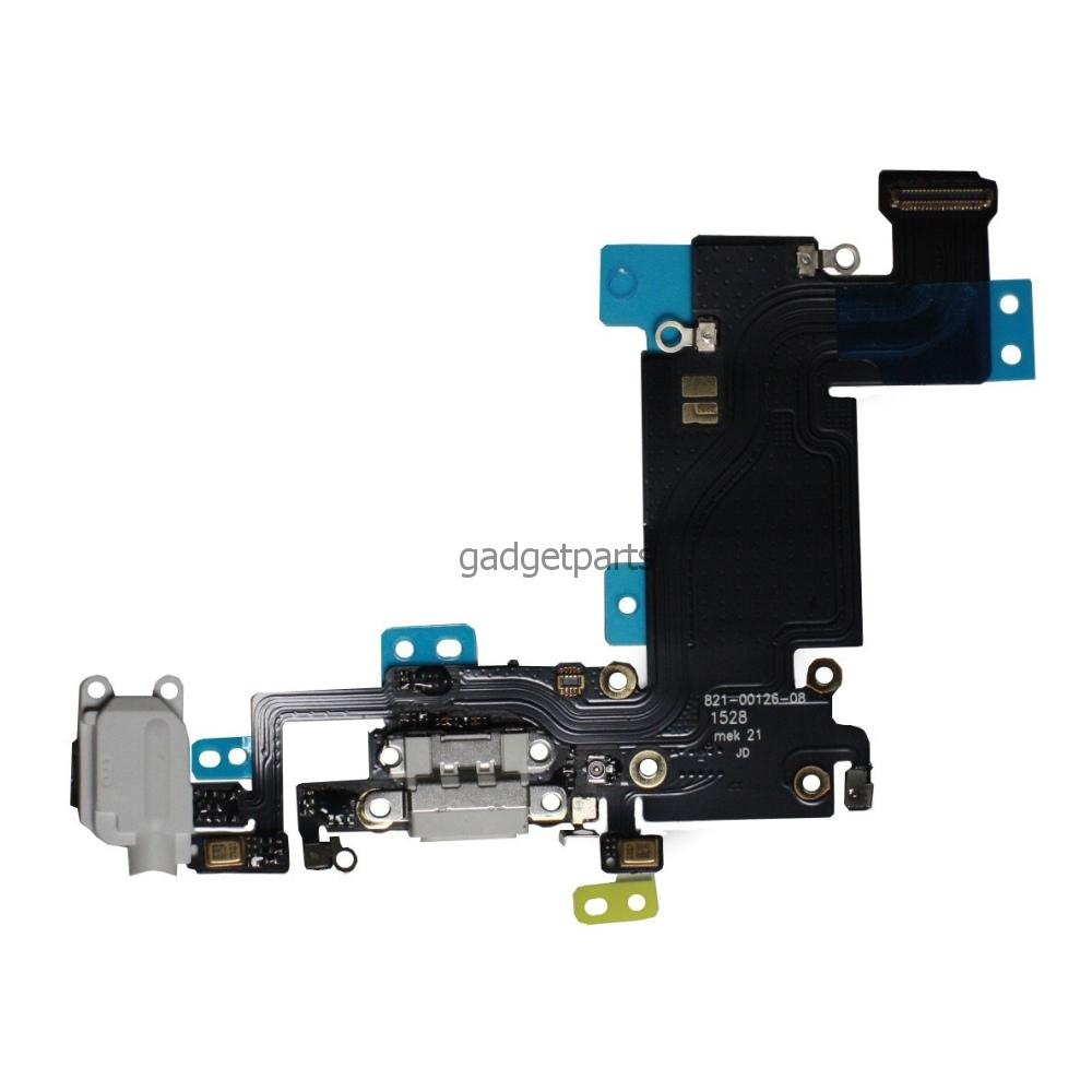 Аудио шлейф с системным разъемом iPhone 6S Plus Черный (Black) Оригинал