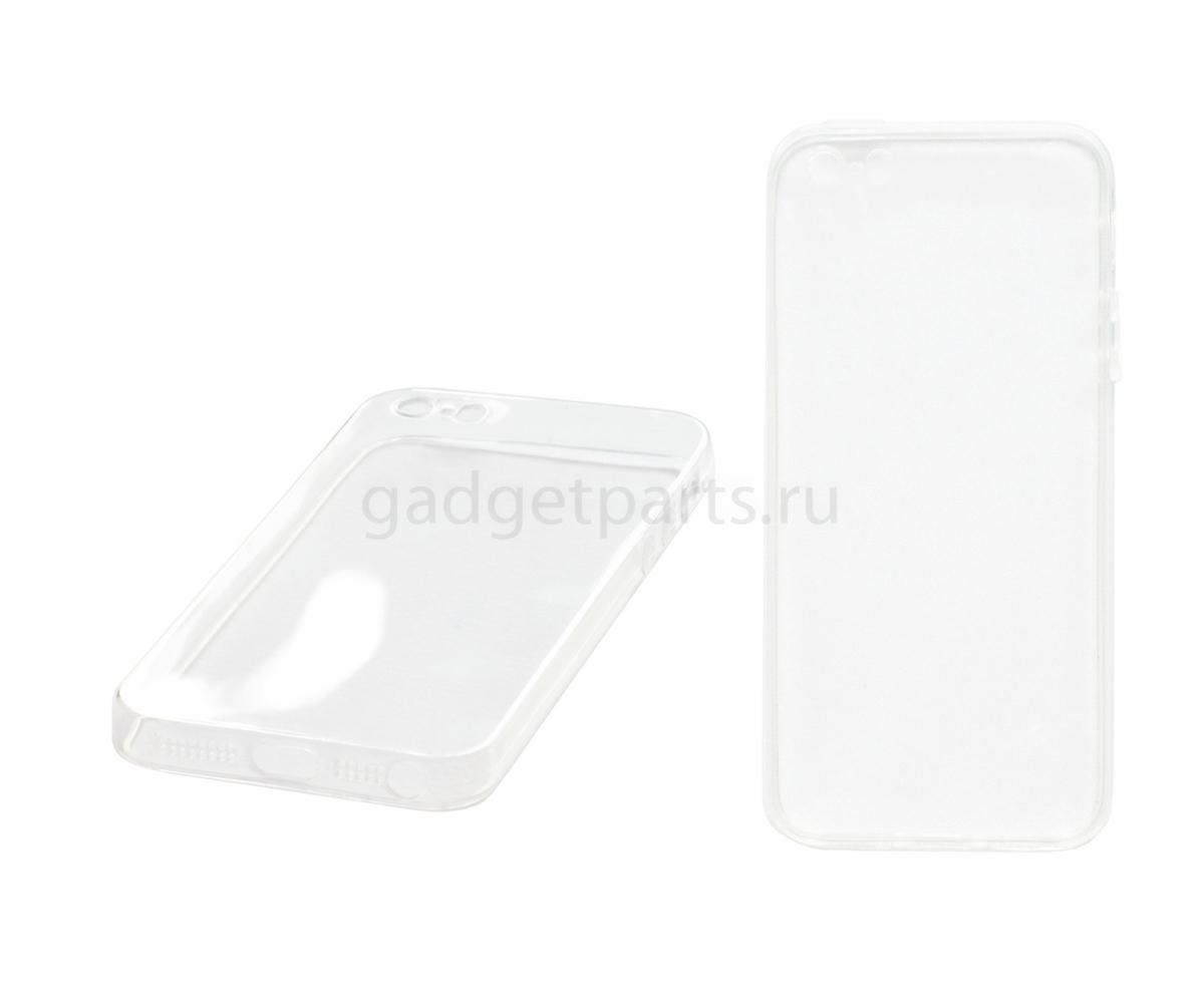 Чехол-накладка, прозрачный iPhone 5, 5S