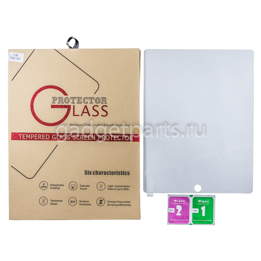 Защитное противоударное стекло iPad 2, 3, 4