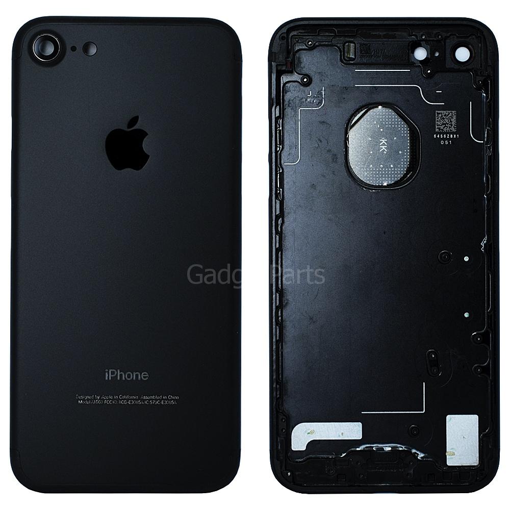 Задняя крышка iPhone 7 Черная (Black) Оригинал