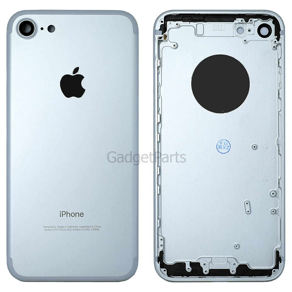 Задняя крышка iPhone 7 Серебряная, Белая (Silver, White) Оригинал