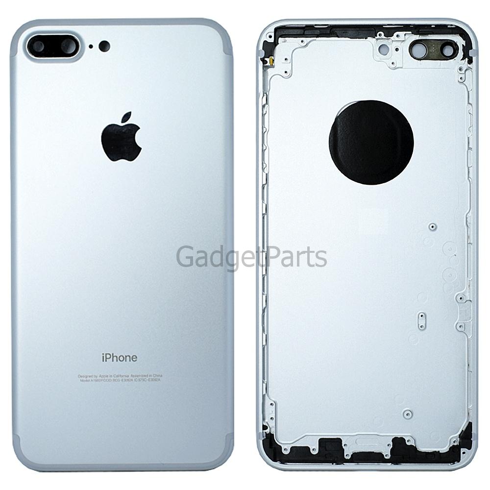 Задняя крышка iPhone 7 Plus Серебряная, Белая (Silver, White) Оригинал
