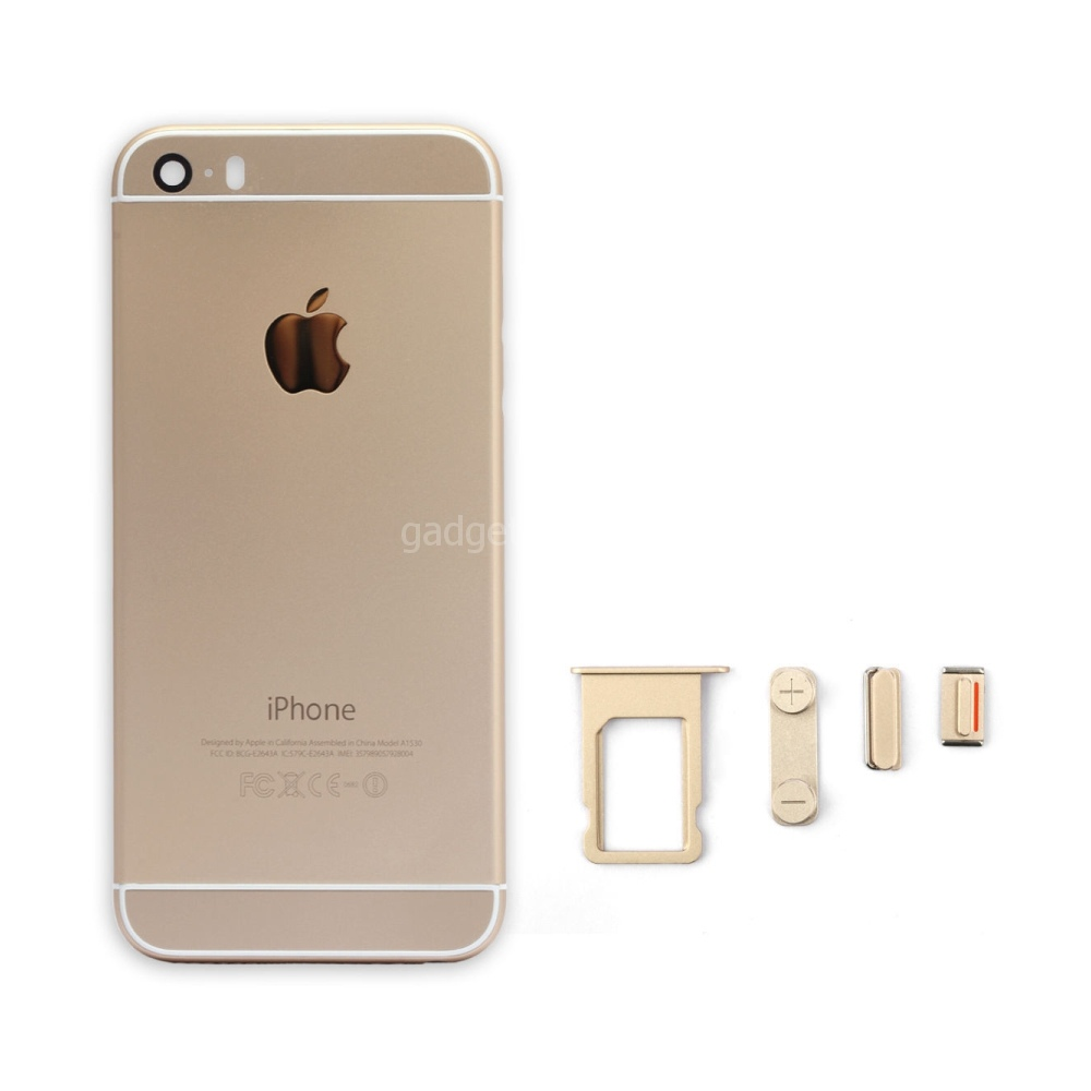 Задняя крышка iPhone 5 под iPhone 6 Золотая (Gold)
