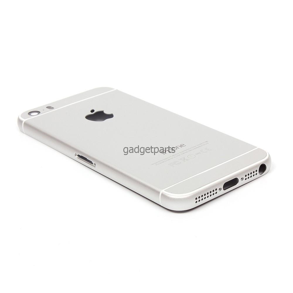 Задняя крышка iPhone 5 под iPhone 6 Белая, Серебряная (White, Silver).