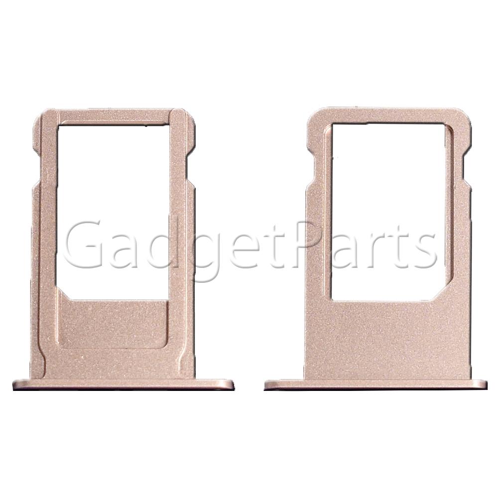 Сим-лоток iPhone 6S Plus Розовое золото (Rose gold)