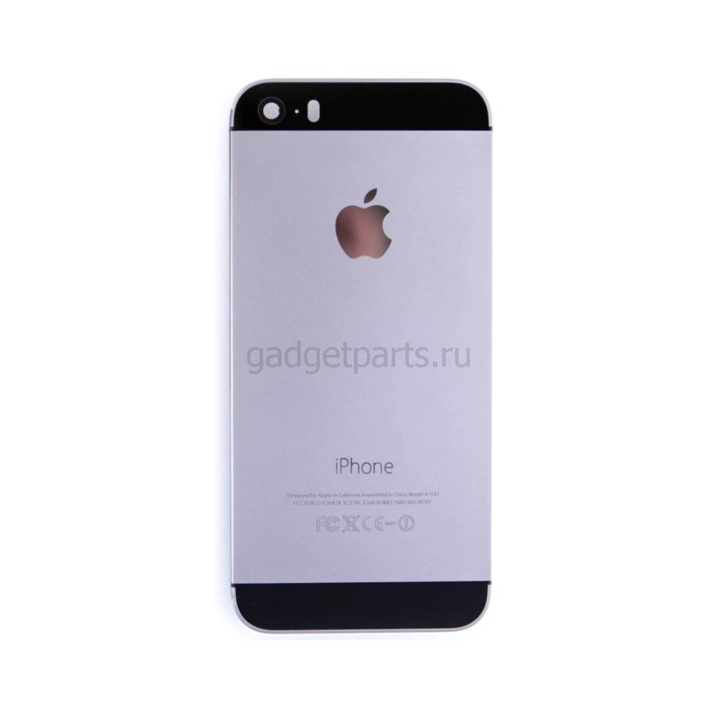 Задняя крышка iPhone 5SE Черная (Space gray, Black)