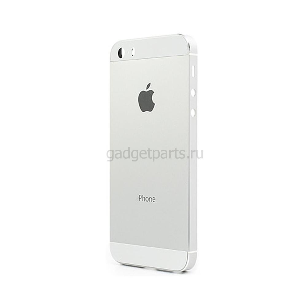 Задняя крышка iPhone 5SE Серебряная, Белая (Silver, White)