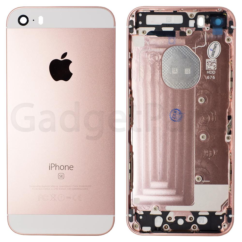 Задняя крышка iPhone 5SE Розовое золото (Rose gold)