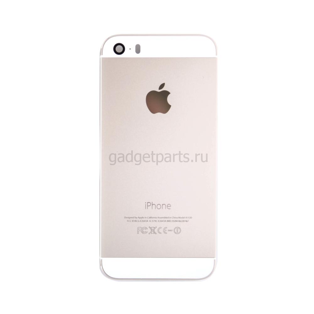 Задняя крышка iPhone 5SE Золотая (Gold)