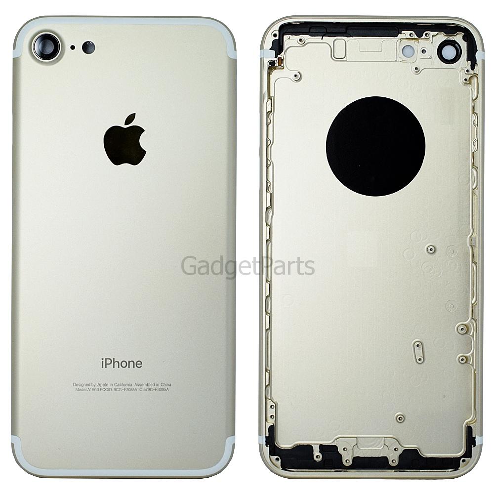 Задняя крышка iPhone 7 Золотая (Gold) Оригинал