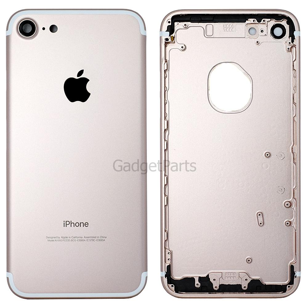Задняя крышка iPhone 7 Розовое золото (Rose gold) Оригинал