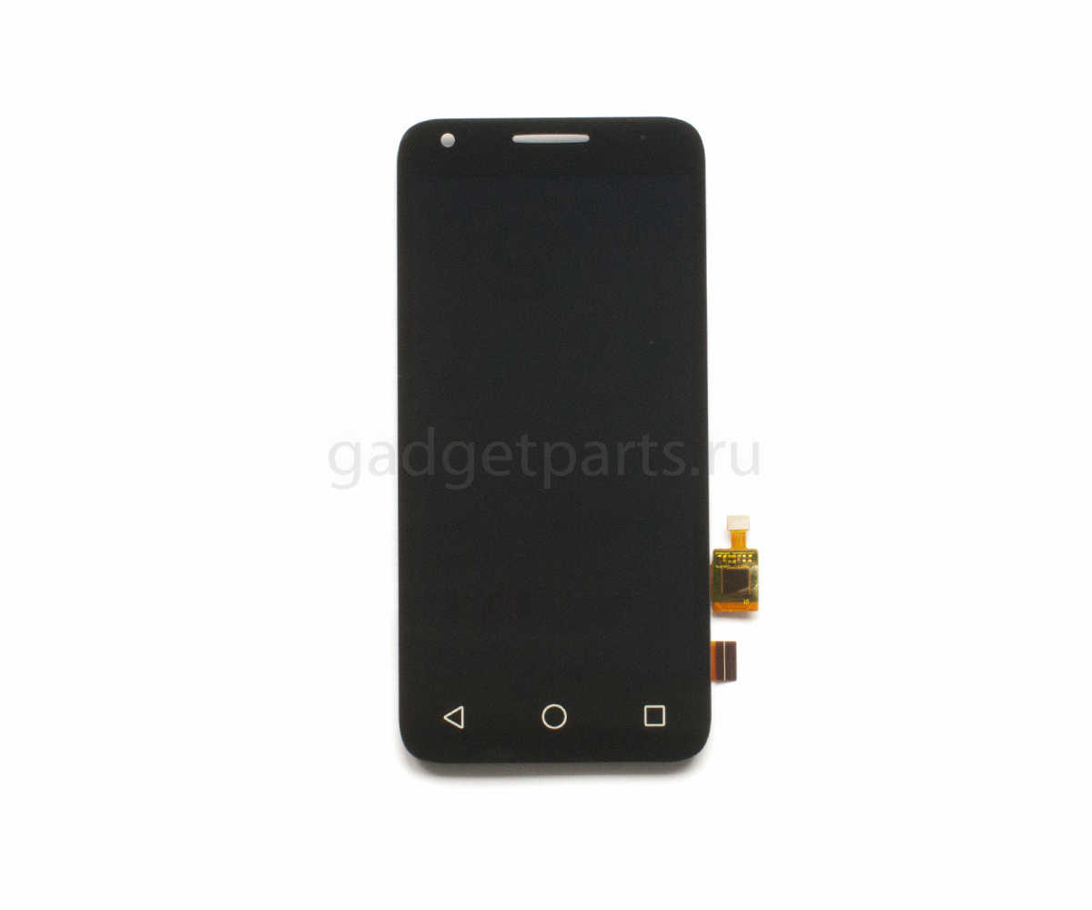 Модуль (дисплей, тачскрин, рамка) Alcatel OT4027N, PIXI3 4.5 Черный (Black)