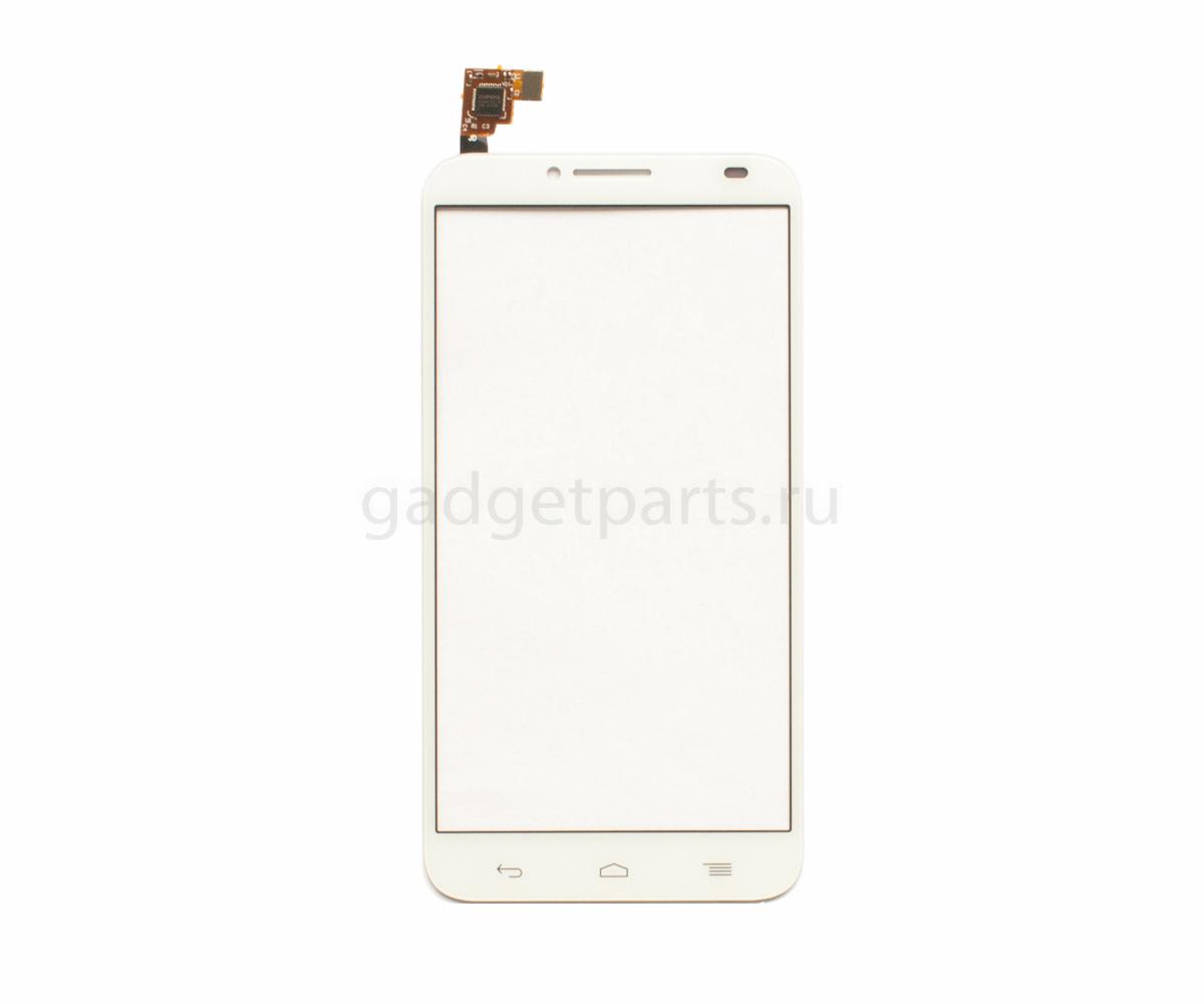 Сенсорное стекло, тачскрин Alcatel OT6037Y, OT6037K (Idol 2) Белый (White)