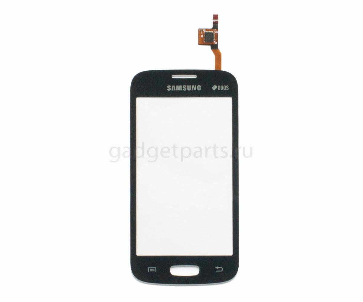Сенсорное стекло, тачскрин Samsung Galaxy Star Plus, S7260, S7262 Черный (Black) Оригинал