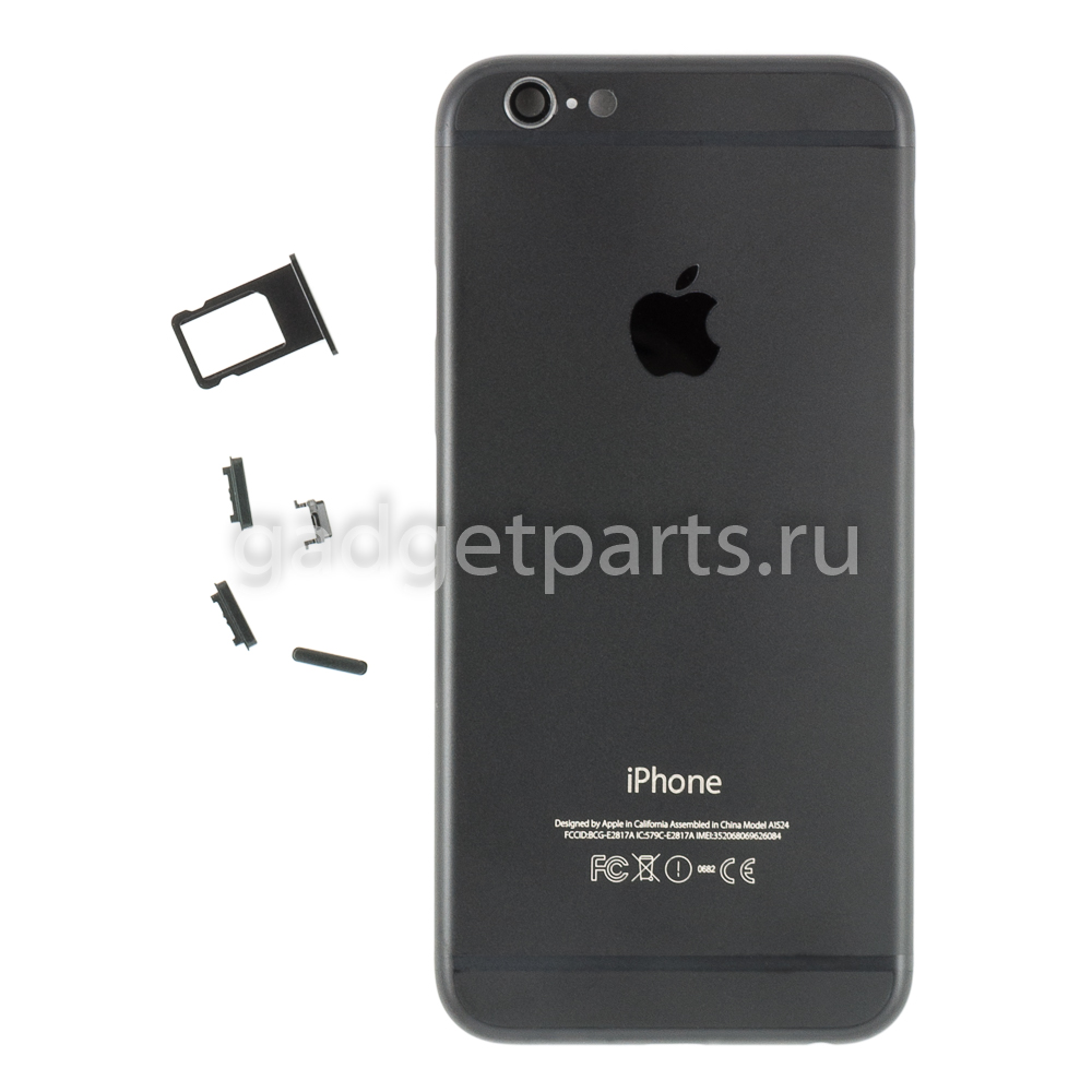 Задняя крышка iPhone 6 Черно-Матовая (Black-Matte)
