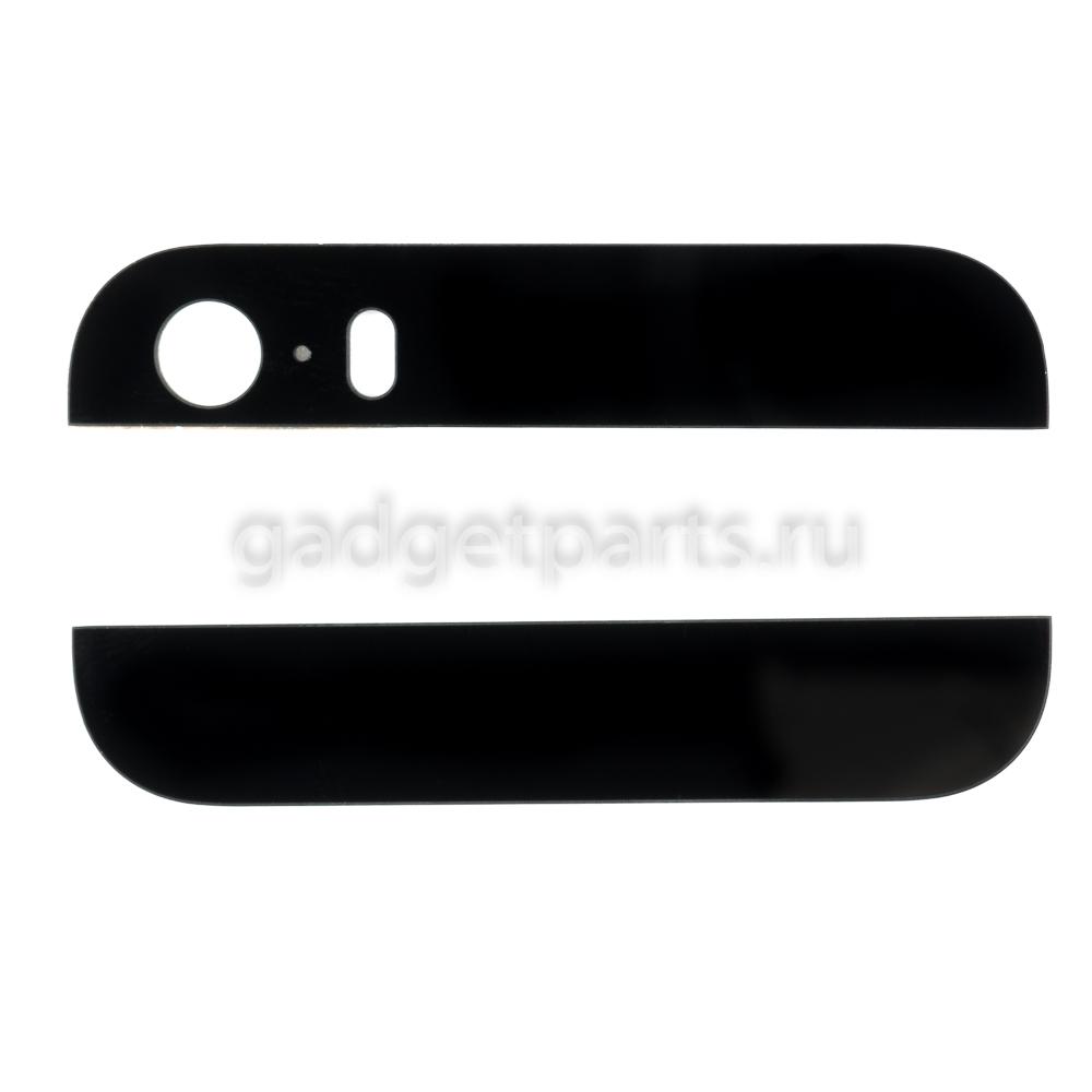 Стекла для задней крышки iPhone 5S Черные (Black)