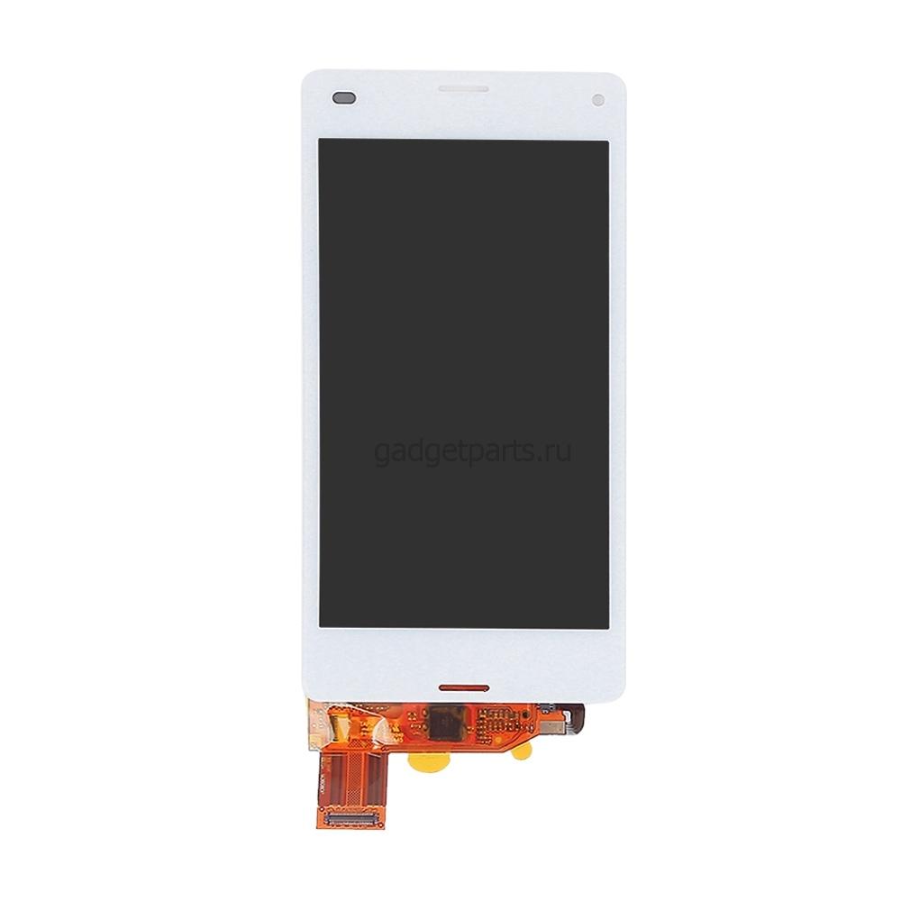Модуль (дисплей, тачскрин, рамка) Sony Xperia Z3 Compact, D5803, D5833 Белый (White)