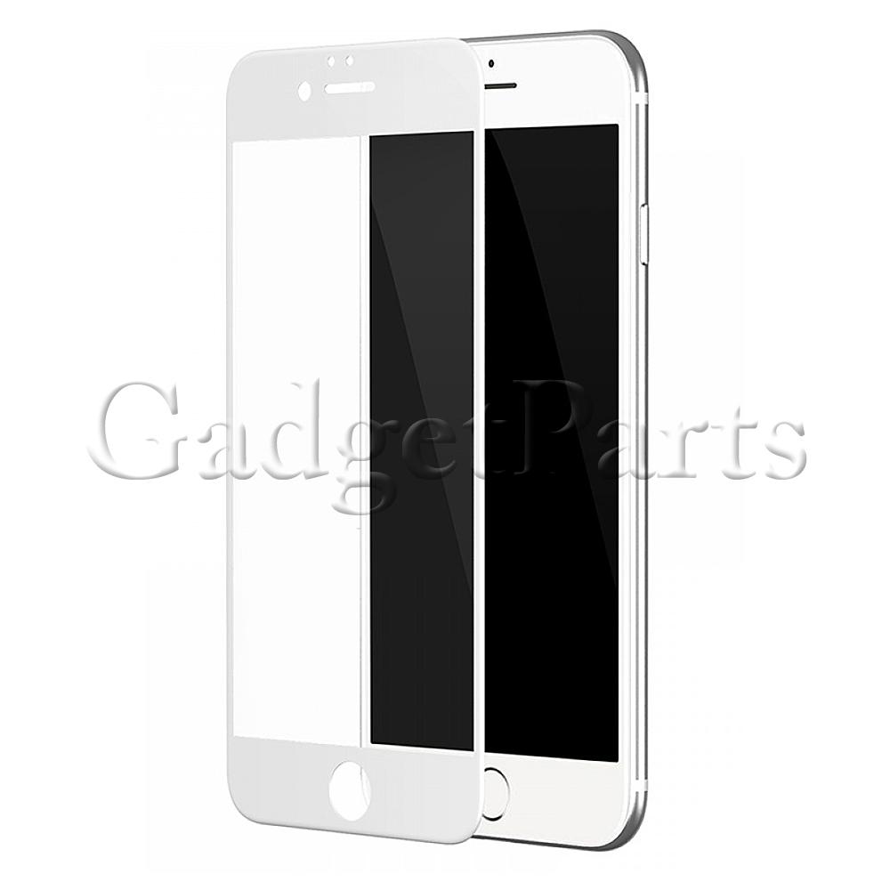 Защитное противоударное стекло 3D iPhone 7, 8 Белое (White)