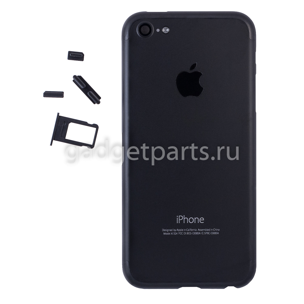Задняя крышка iPhone 5 под iPhone 7 Черная (Black)