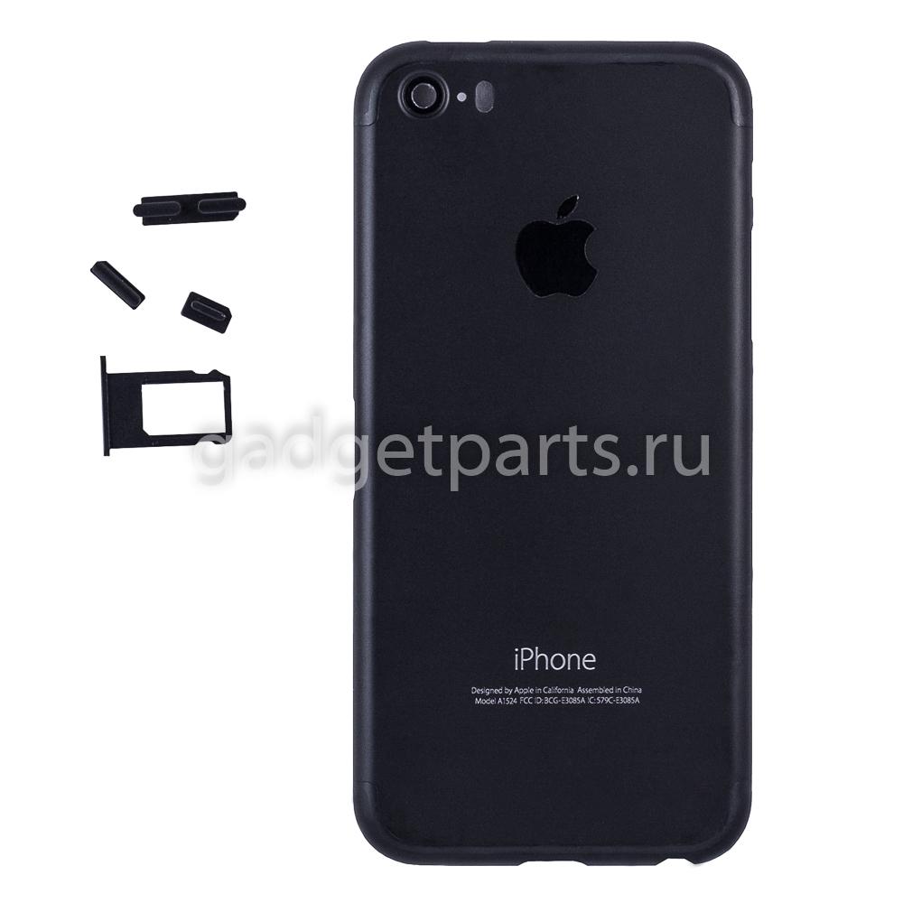 Задняя крышка iPhone 5S под iPhone 7 Черная (Black)