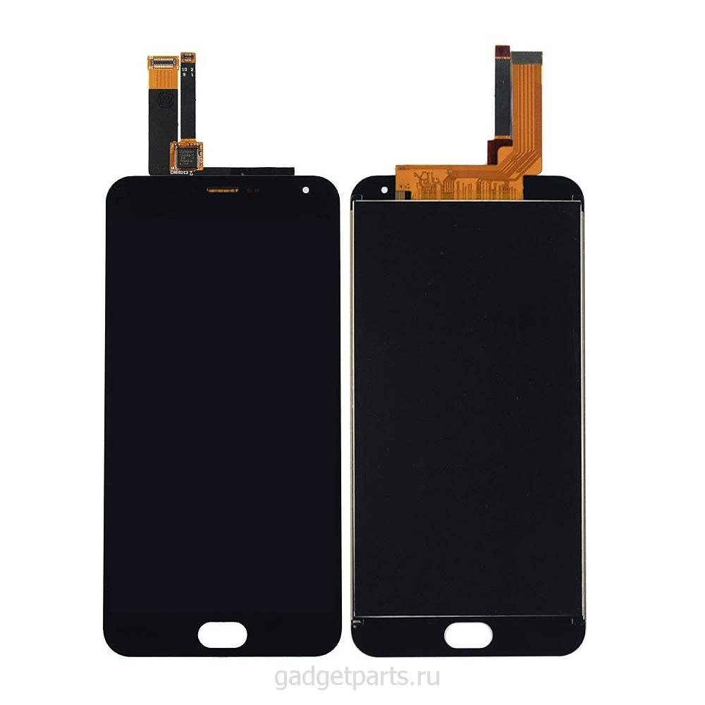 Модуль (дисплей, тачскрин) Meizu M2 note Черный (Black) Оригинал