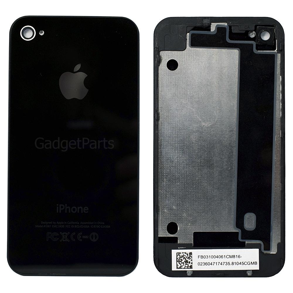 Задняя крышка iPhone 4 Черная (Black) Оригинал