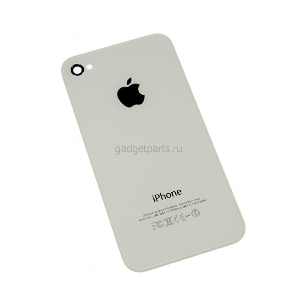 Задняя крышка iPhone 4S Белая (White) Оригинал