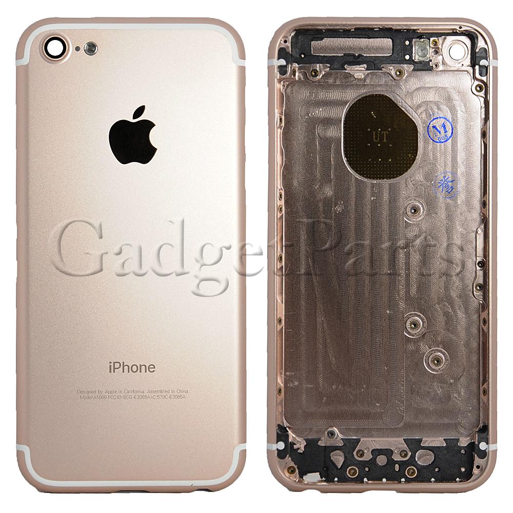 Задняя крышка iPhone 5 под iPhone 7 Розовое золото (Rose gold)
