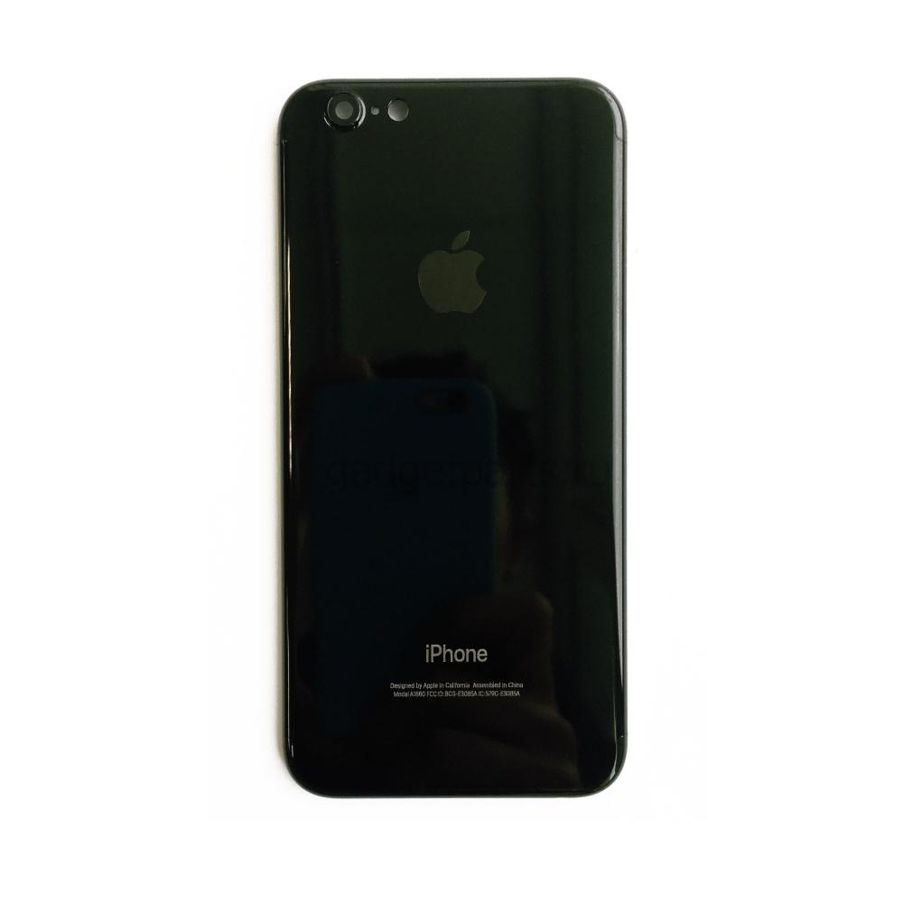 Задняя крышка iPhone 6 под iPhone 7 Черная (Black) Глянцевая