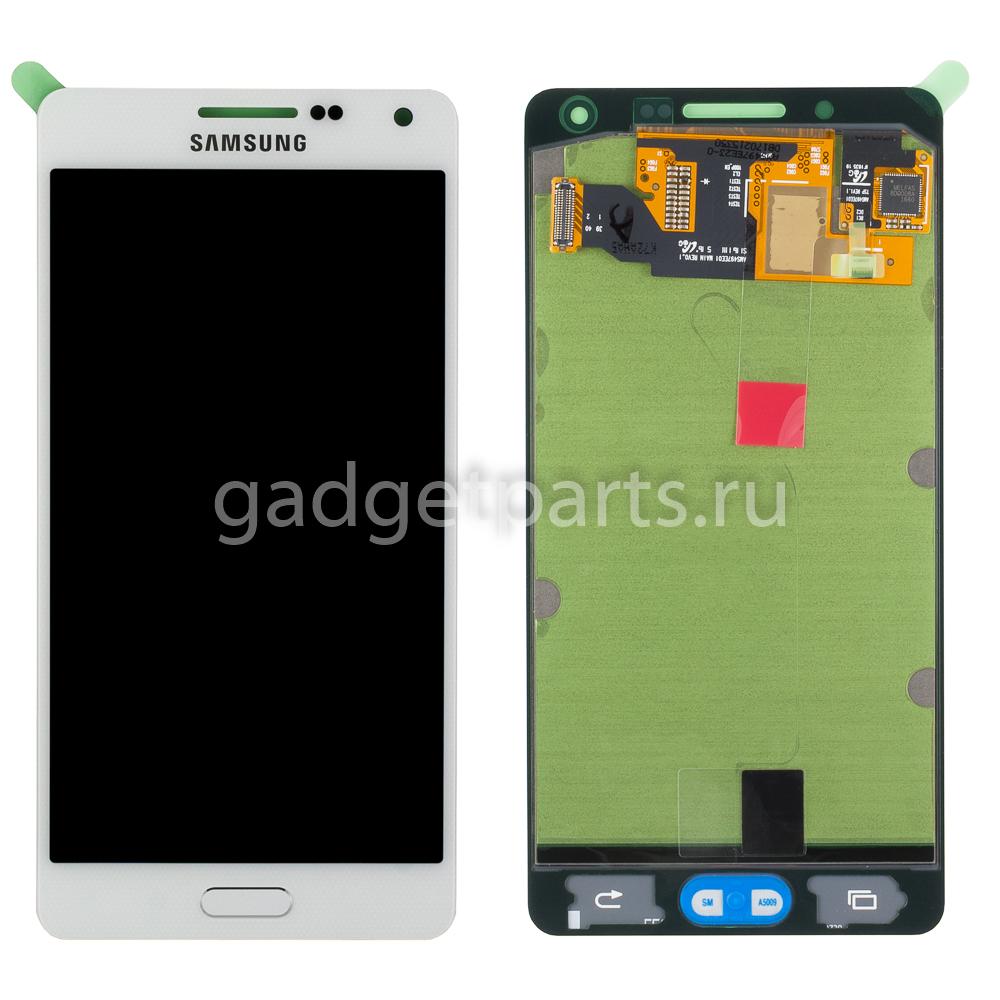 Модуль (дисплей, тачскрин, рамка) Samsung Galaxy A5, A500F Белый (White) Оригинал