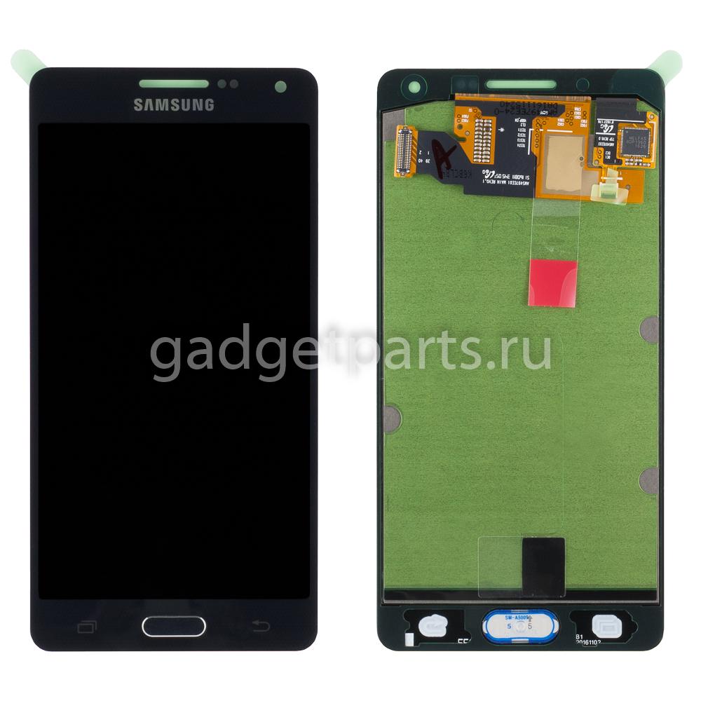 Модуль (дисплей, тачскрин, рамка) Samsung Galaxy A5, A500F Черный (Black) Оригинал