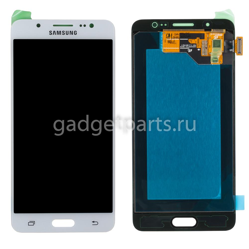 Модуль (дисплей, тачскрин, рамка) Samsung Galaxy J5, J510F Белый (White) Оригинал