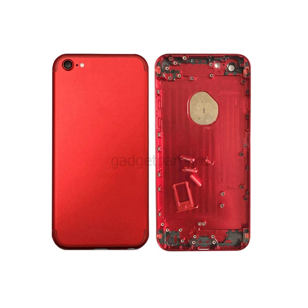Задняя крышка iPhone 6 под iPhone 7 Красная (Red)