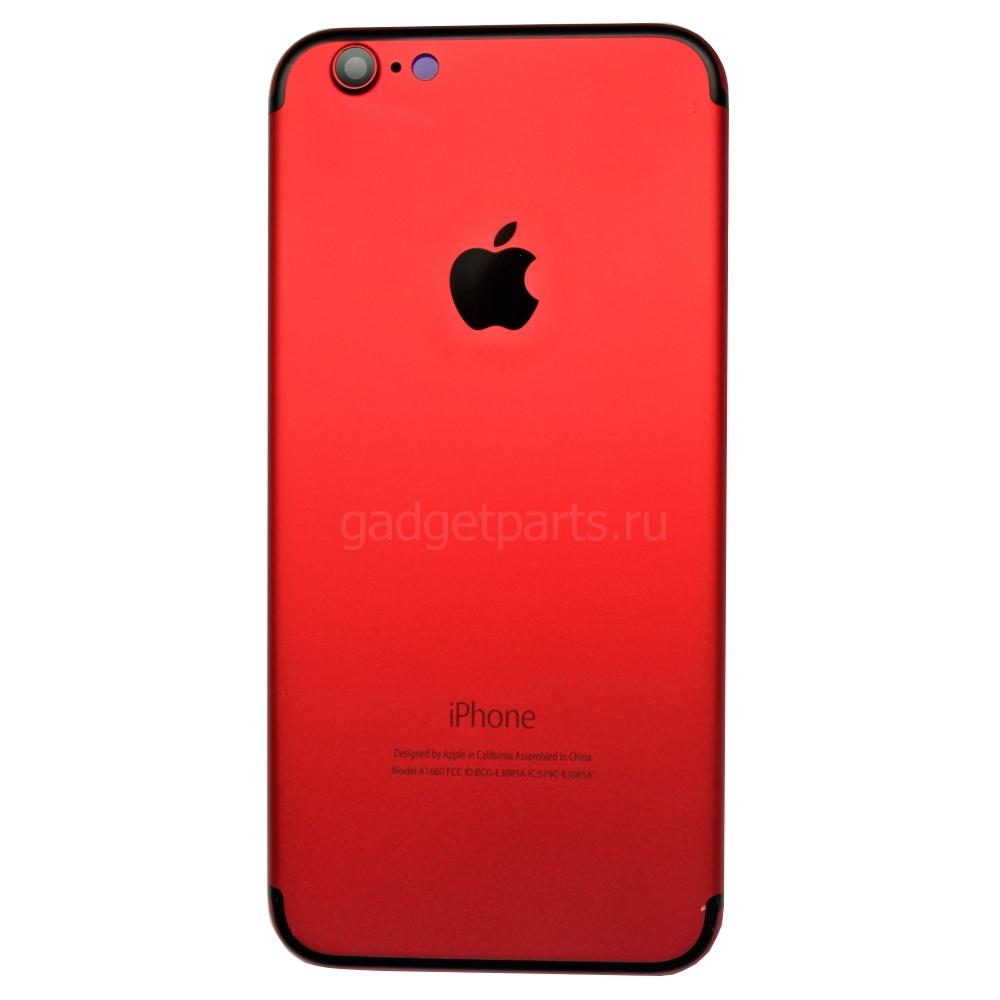 Задняя крышка iPhone 6S под iPhone 7 Красная (Red)