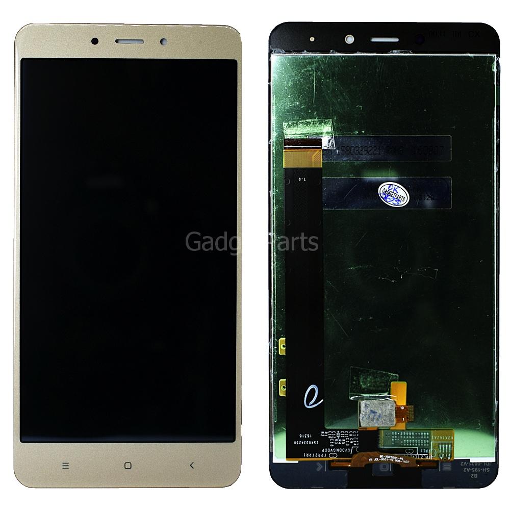 Модуль (дисплей, тачскрин) Xiaomi Redmi Note 4 Золотой (Gold)