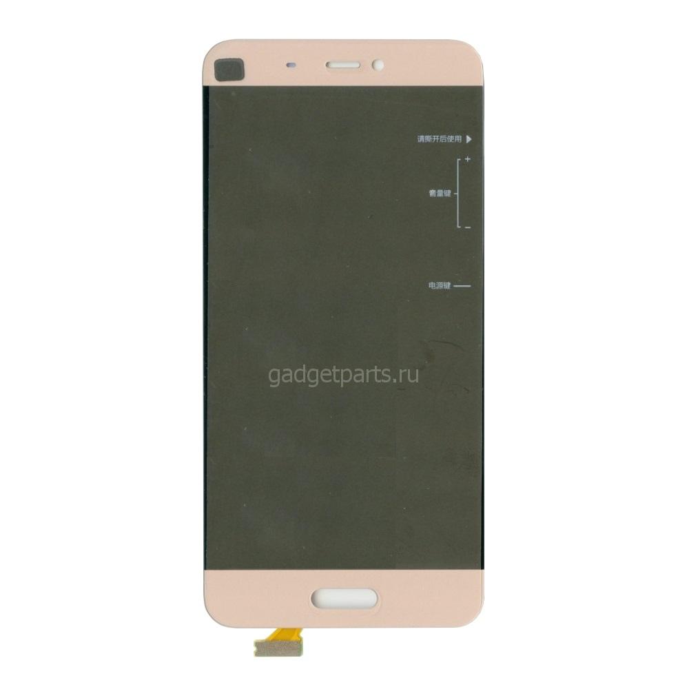 Модуль (дисплей, тачскрин) Xiaomi Mi 5 Золотой (Gold)
