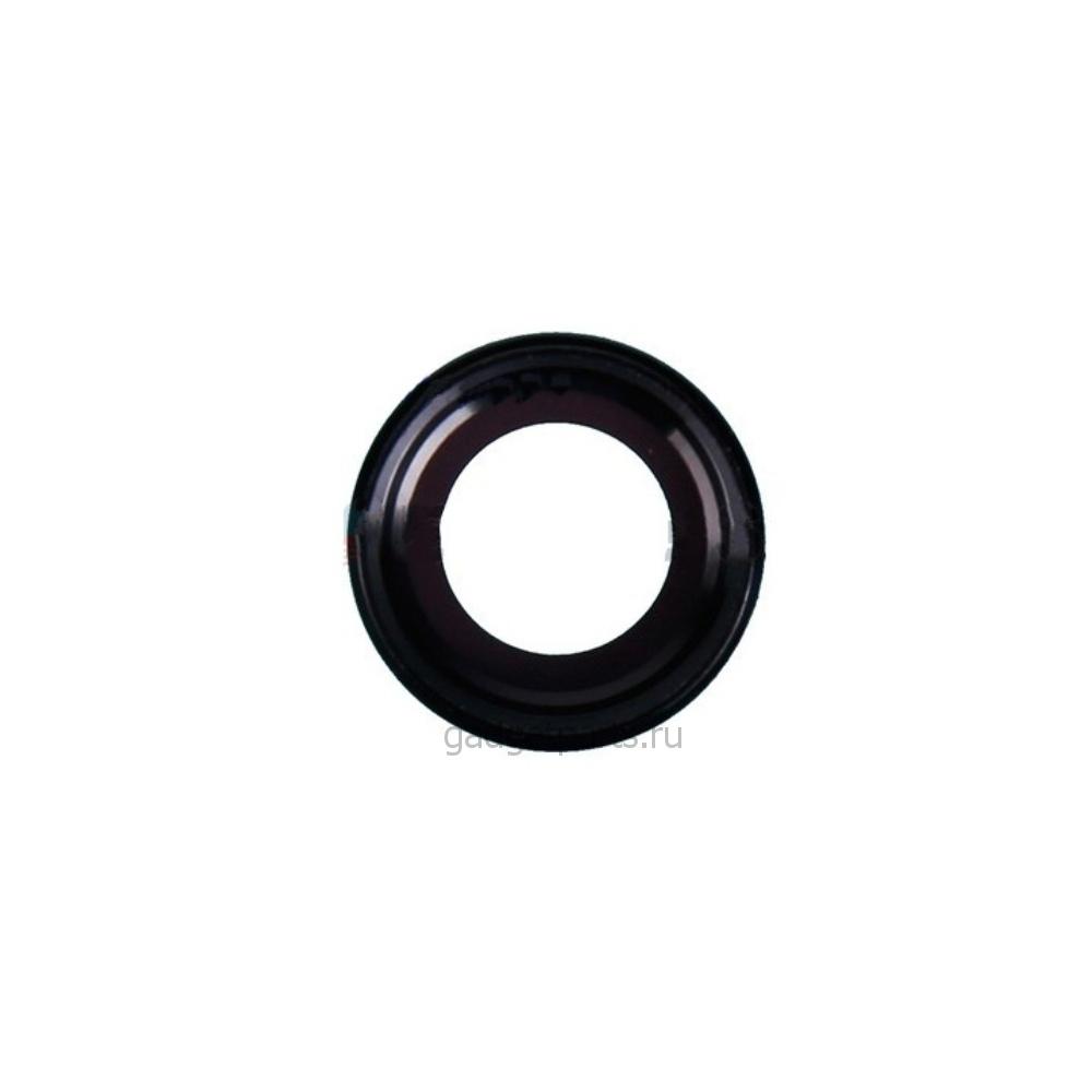 Стекло задней камеры в сборе iPhone 6, 6S Черное (Space Gray, Black)