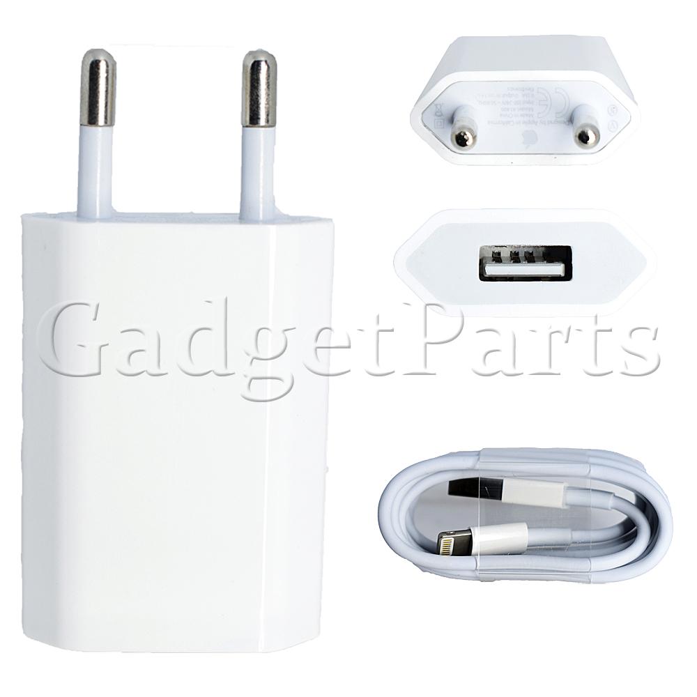 Блок зарядки, USB кабель, сетевой шнур Lightning iPhone 5, 5S, 6, 6 Plus, 6S, 6S Plus, 7, 7 Plus, iPad и iPod, MB707ZM/B