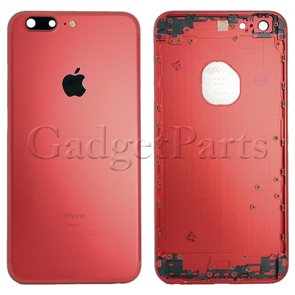 Задняя крышка iPhone 6S Plus под iPhone 7 Plus Красная (Red)